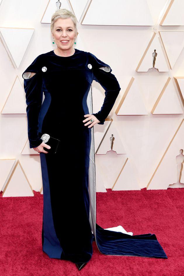 Olivia Colman, en la alfombra roja de los Oscar