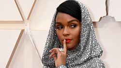 Janelle Monáe Lights Up 2020 Oscars Red Carpet In Draped Hood With Endless