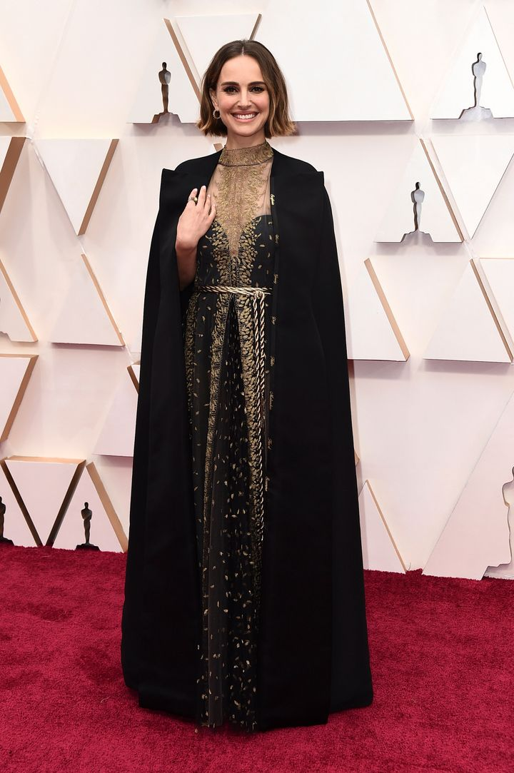 Natalie Portman arrives at the Oscars on Sunday, Feb. 9, 2020, at the Dolby Theatre in Los Angeles.