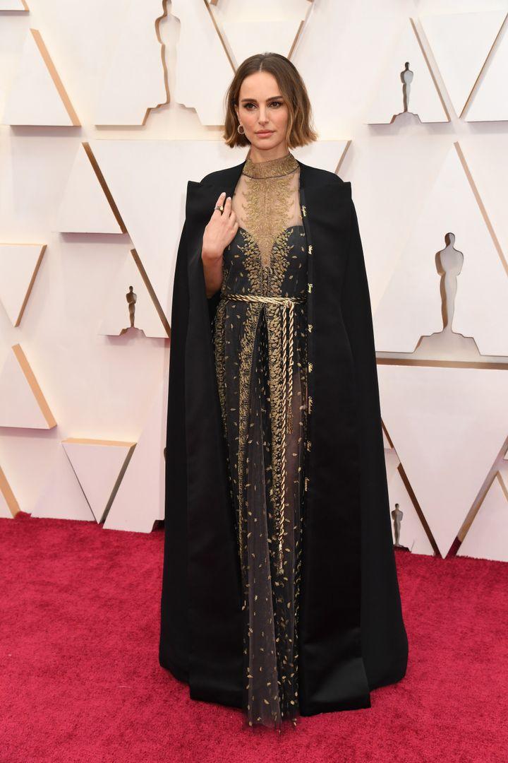 Natalie Portman, de Dior en los Oscar 2020.