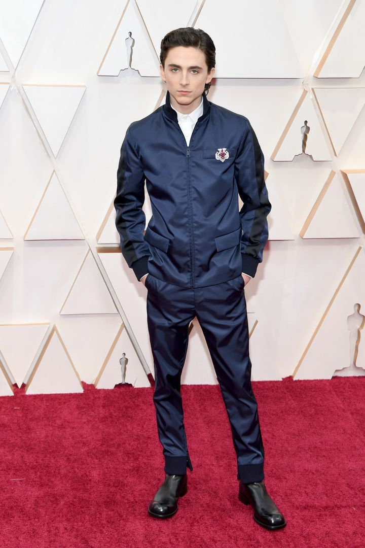 Timothée Chalamet has social media feeling things at the Oscars.
