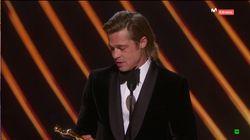 Brad Pitt gana el Oscar, pero patina con el