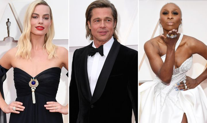 Margot Robbie, Brad Pitt and Cynthia Erivo on the Oscars red carpet