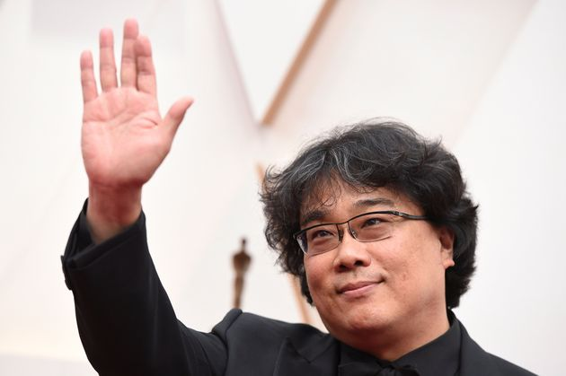 Bong Joon-ho arrives at the Oscars on Sunday, Feb. 9, 2020, at the Dolby Theatre in Los Angeles. (Photo...