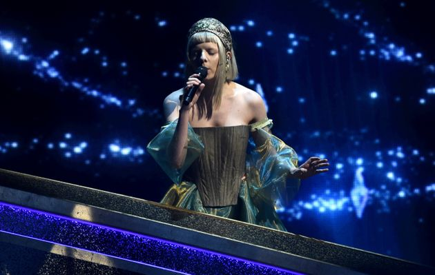 Aurora performs at the Oscars on Sunday, Feb. 9, 2020, at the Dolby Theatre in Los Angeles. (AP Photo/Chris
