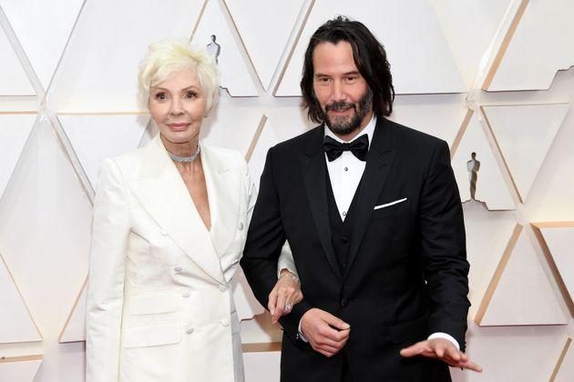Keanu Reeves et sa mère Patricia Taylor sur le tapis rouge de la 92ème cérémonie...