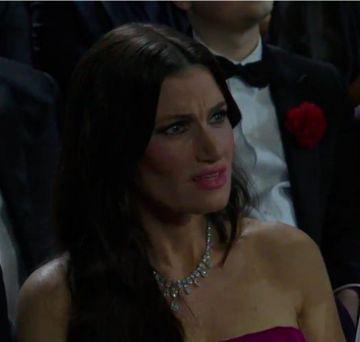 Idina Mezel, reacción a la actuación de Eminem.