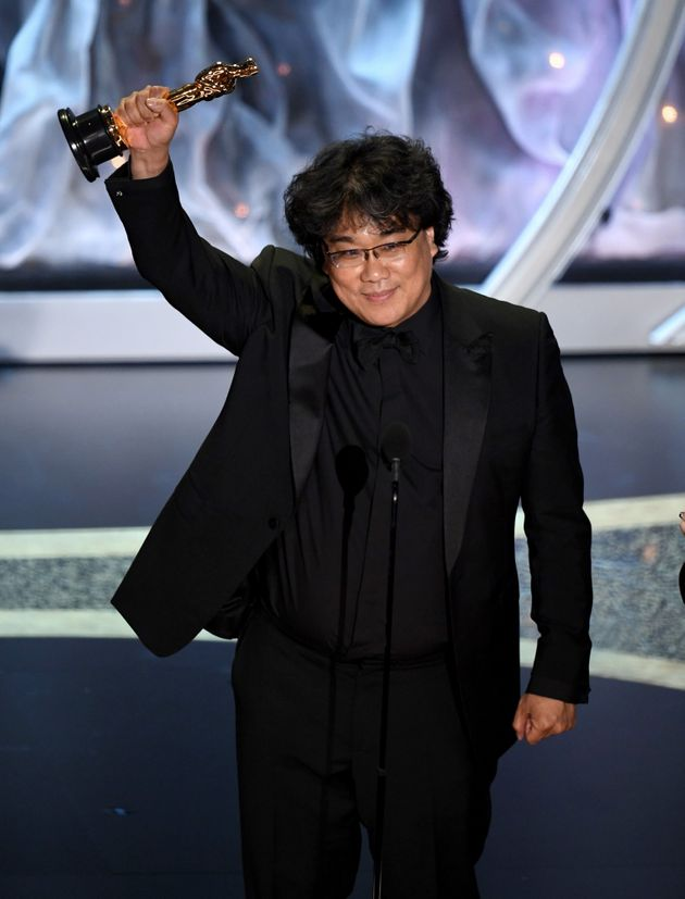 HOLLYWOOD, CALIFORNIA - FEBRUARY 09: Bong Joon-ho accepts the International Feature Film award for 'Parasite'...