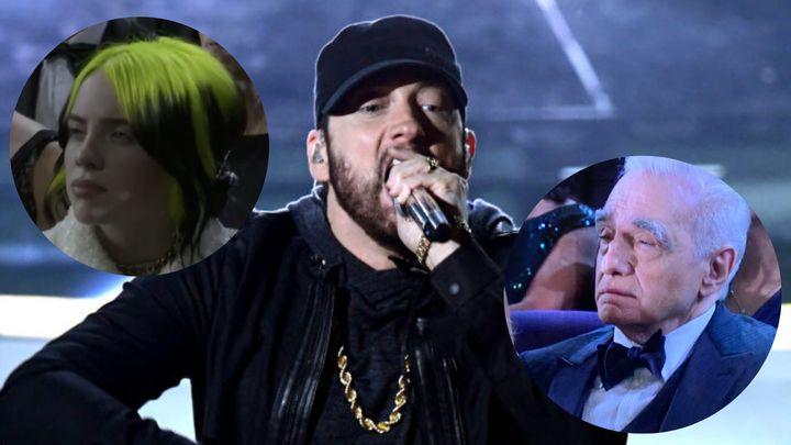 Reacciones a la actuación de Eminem.