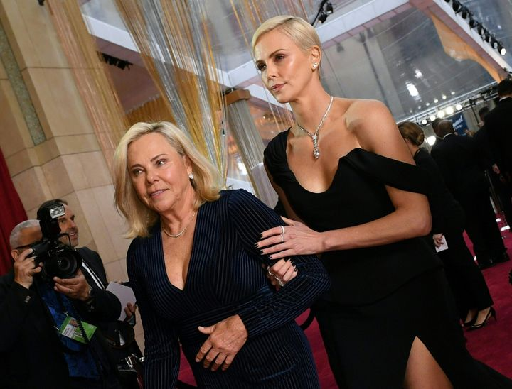 Charlize Theron with her mom, Gerda Maritz.