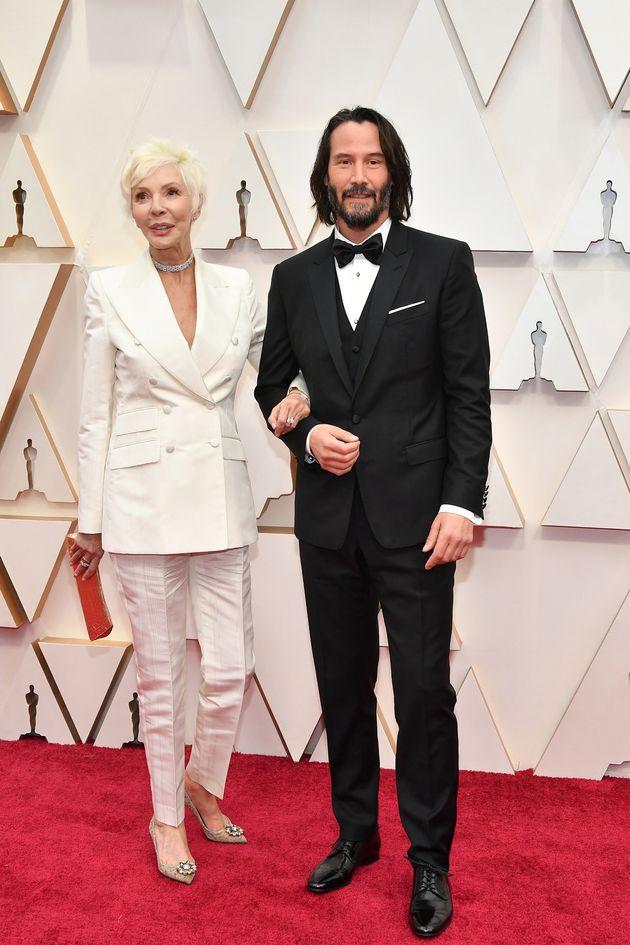 Patricia Taylor y Keanu Reeves, en la alfombra roja de los