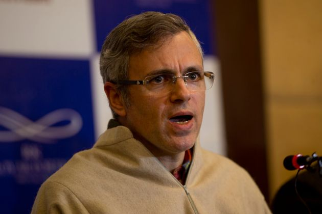 Former Jammu and Kashmir state Chief Minister Omar Abdullah during a press conference in Srinagar, Feb....