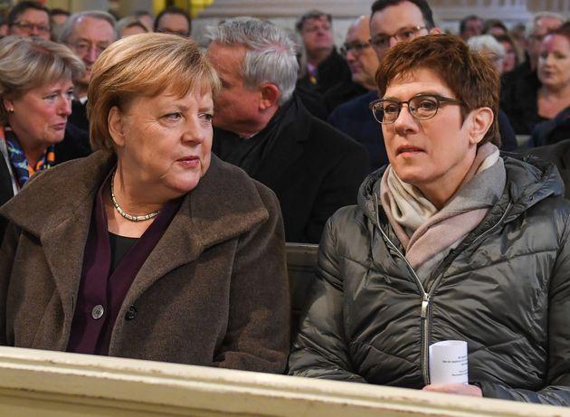 Annegret Kramp-Karrenbauer et Angela
