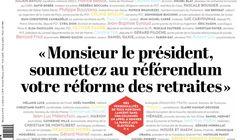 140 personnalités demandent un référendum sur la réforme des
