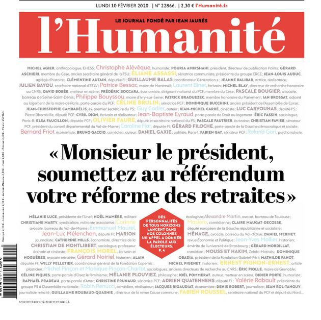 140 personnalités demandent dans L'Humanité à Emmanuel Macron un référendum sur la réforme des