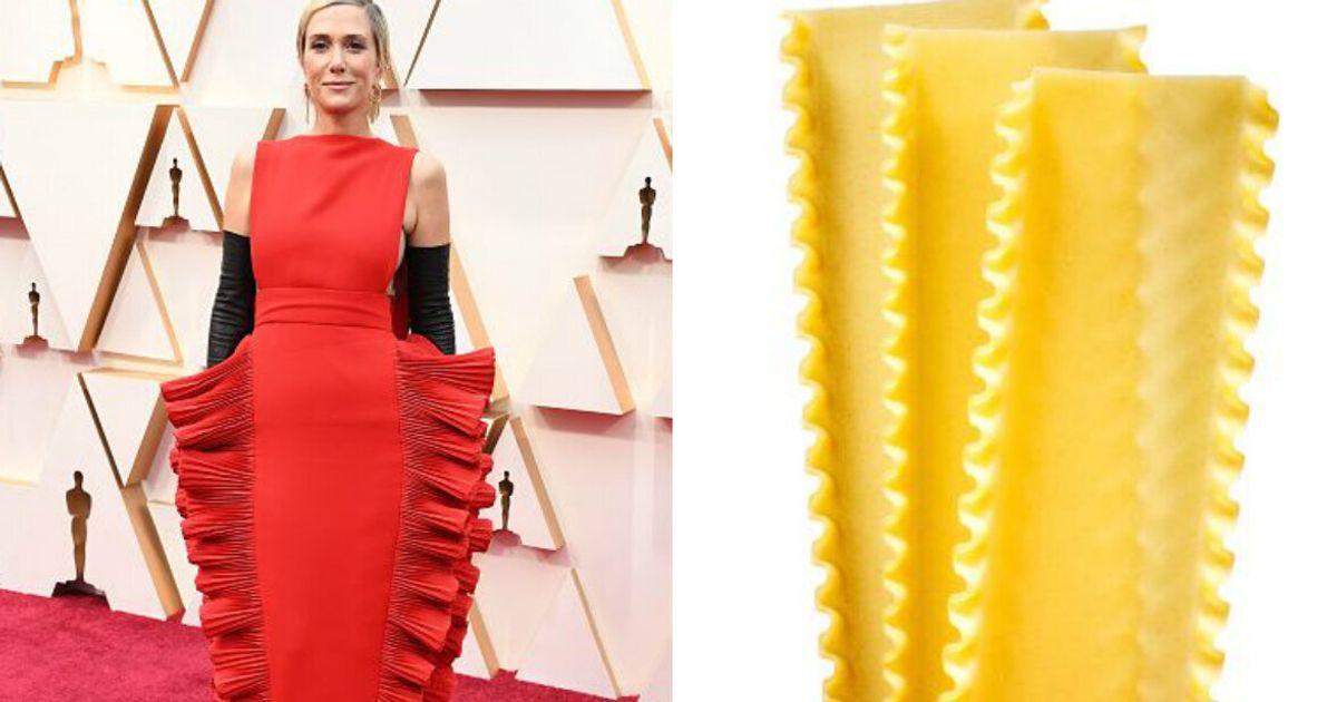 Cette robe en forme de lasagnes vaut le détour(nement)