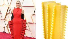 Cette robe en forme de lasagnes vaut le