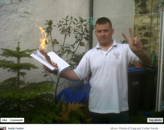 Andrew Foster, who is said to be burning the