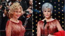 Jane Fonda Trifft 2020 Oscars Im Recycling-Kleid Nach Fluchen Aus Kleidung Einkäufe