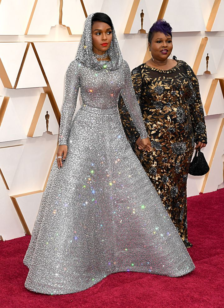 Janelle Monáe brought her mom, Janet, to the Oscars on Sunday.