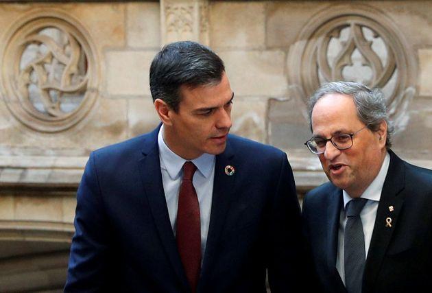 Quim Torra y Pedro Sánchez, en su encuentro de principios de