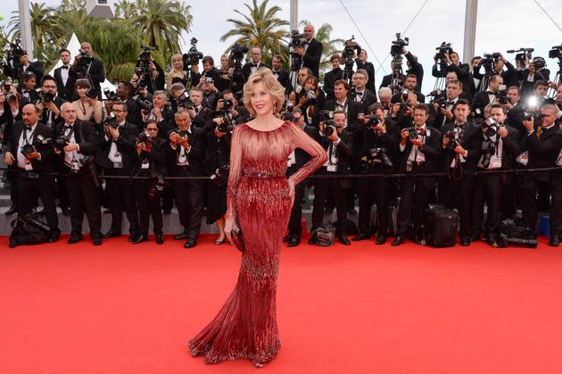 Fonda debuted the gown at 2014 Cannes Film Festival for the