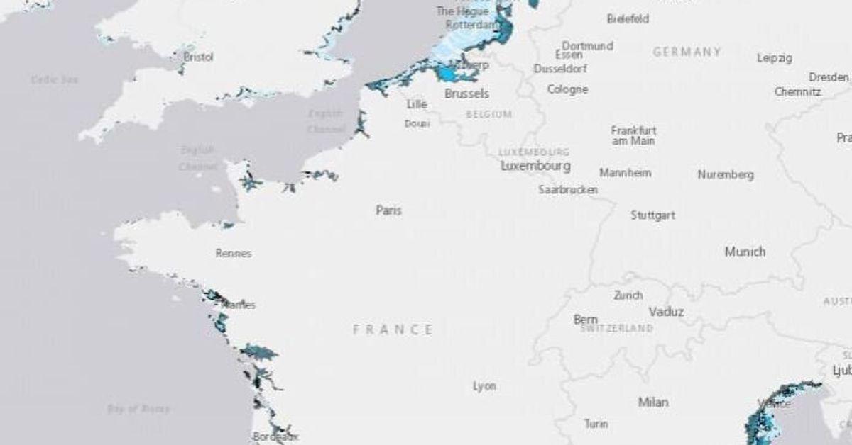 carte de france du littoral ouest