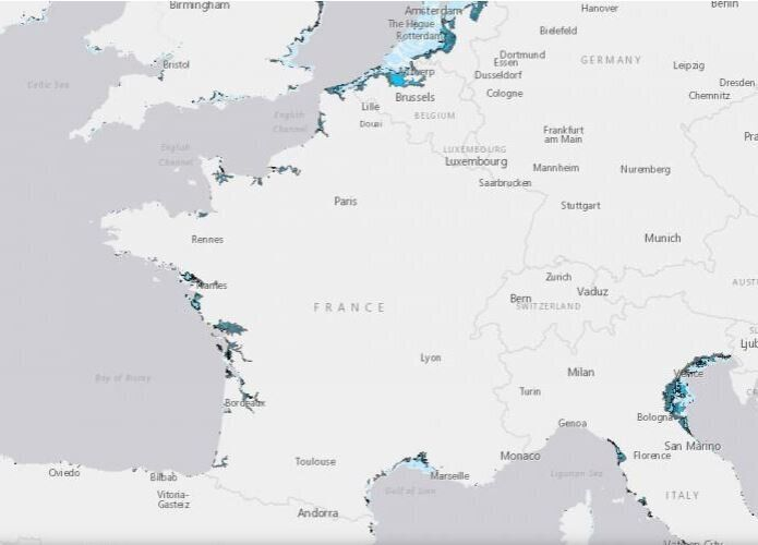 Plusieurs territoires du nord de l'Europe le long de la Manche, en passant par la Vendée et la...