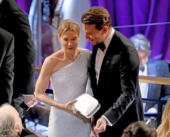 Renée Zellweger and Bradley Cooper pictured together at the 92nd Annual Academy Awards on Feb. 9, 2020.
