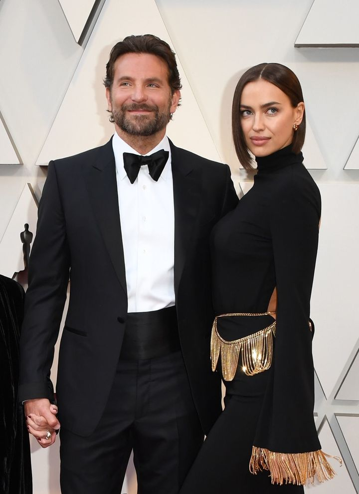 Bradley Cooper and Irina Shayk arrive at the 2019 Oscars.