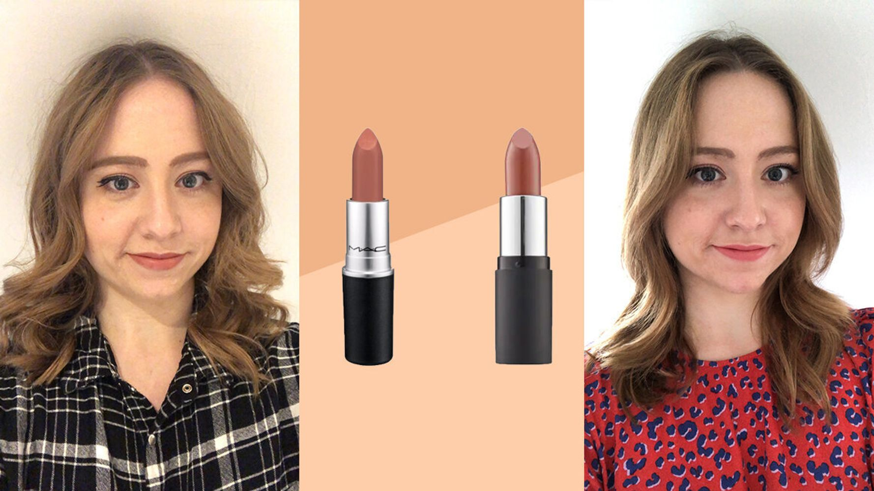 How Does MAC's Cult Lipstick, Velvet Teddy, Compare To The Body Shop's Sienna Rose?