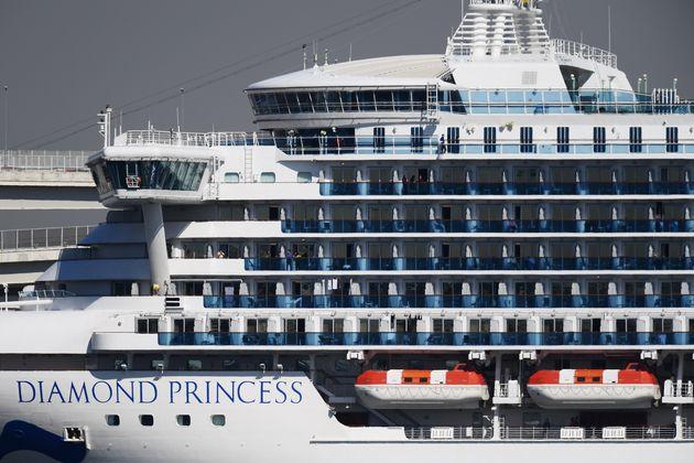 Le paquebot Diamond Princess au terminal de croisière de Daikoku Pier dans le port de Yokohama...
