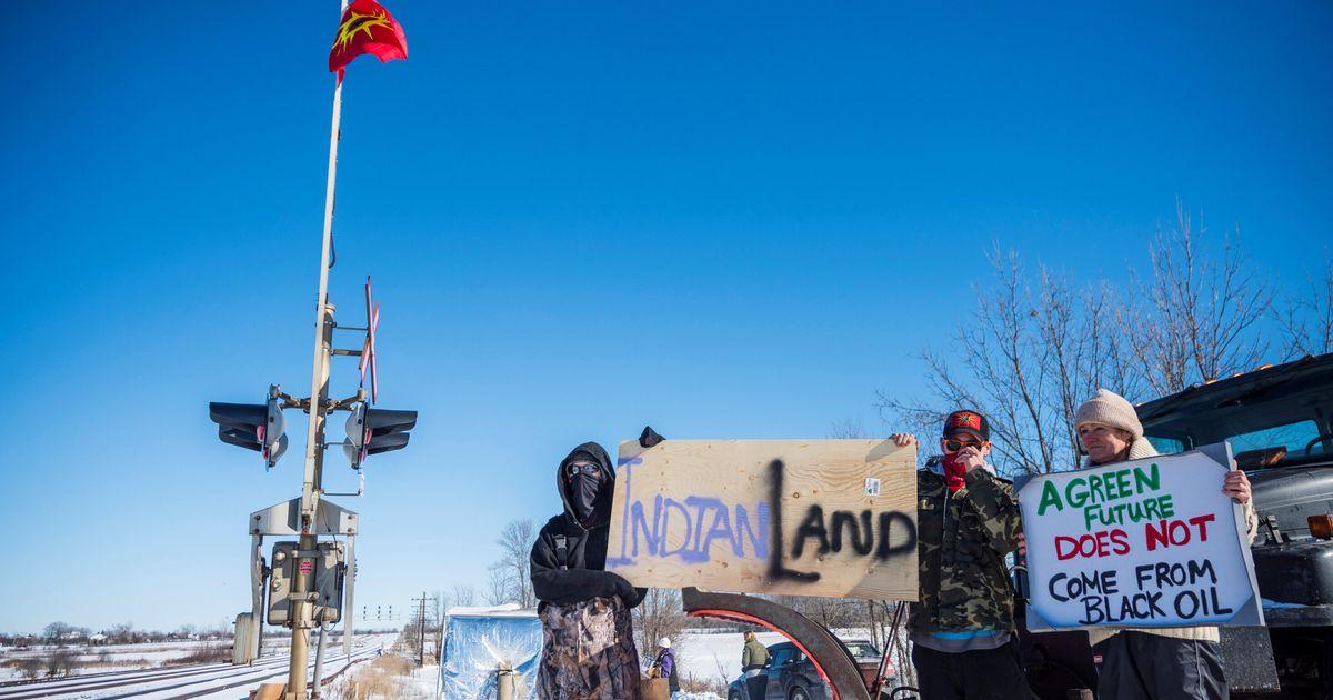 オンタリオ州、ケベック州のB.C.パイプライン抗議