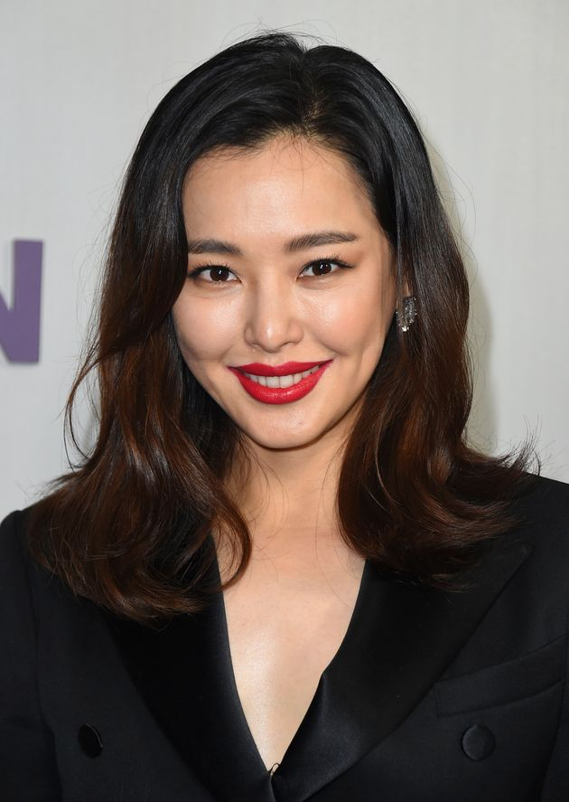 Lee Hanee arrives at the 16th Annual Hammer Museum Gala in the Garden on Sunday, Oct. 14, 2018 in Los
