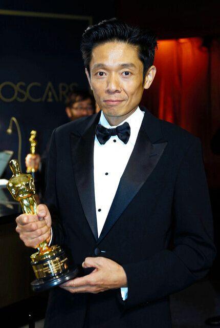 アカデミー賞でメーキャップ・ヘアスタイリング賞を受賞したカズ・ヒロさん=ロイター