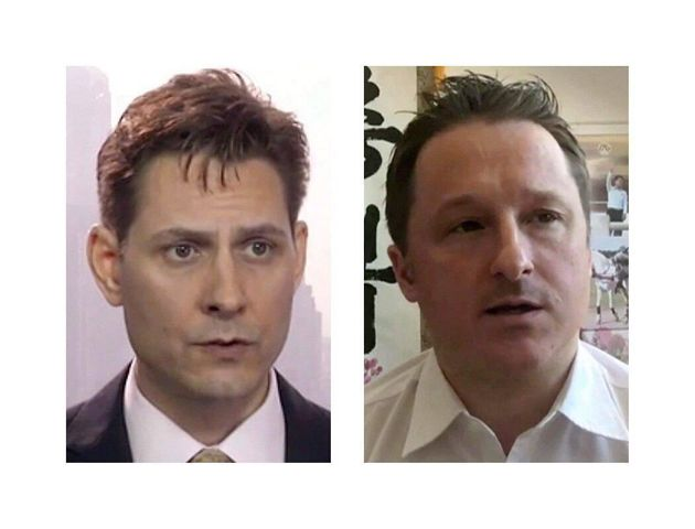 Michael Kovrig (left) and Michael Spavor are shown in these 2018 images taken from