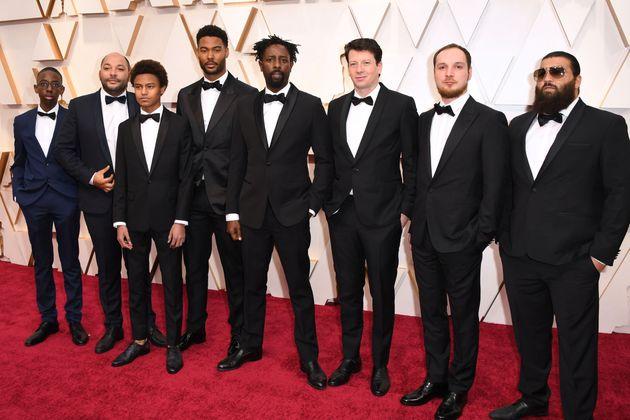 Une partie de l'équipe du film