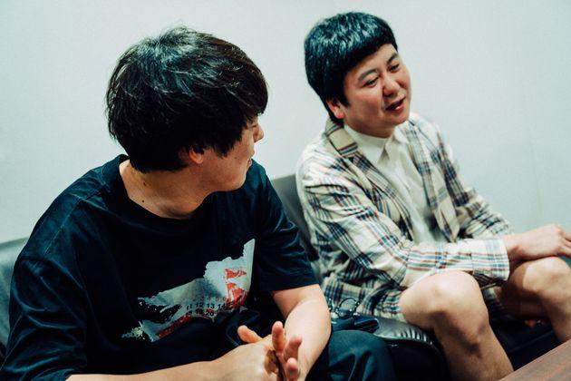 村本大輔さん(左)と中川パラダイスさん(右)