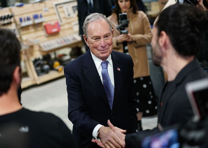 Democratic candidate Michael Bloomberg isn't running in Tuesday's New Hampshire primary, but he and his fortune loom over upc