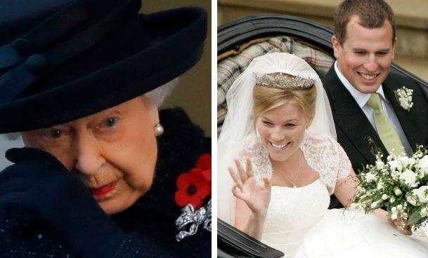 La Regina; i nipoti Peter e Autumn