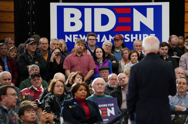Democratic candidate Joe Biden speaks at a