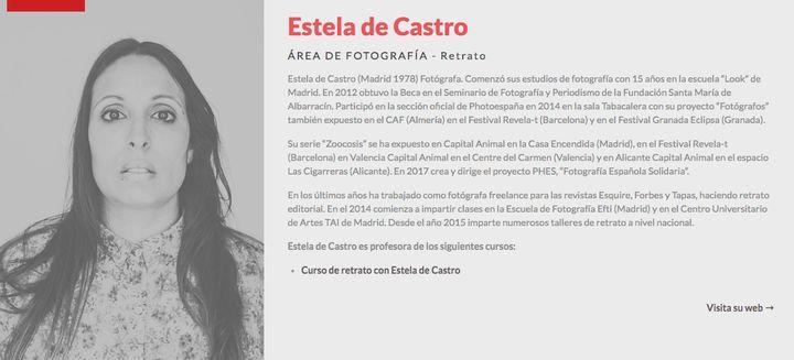 CV de Estela de Castro