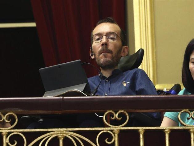 El portavoz de Unidas Podemos en el Congreso, Pablo