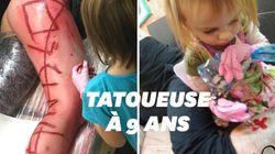 Cette petite fille de 9 ans est la plus jeune tatoueuse du