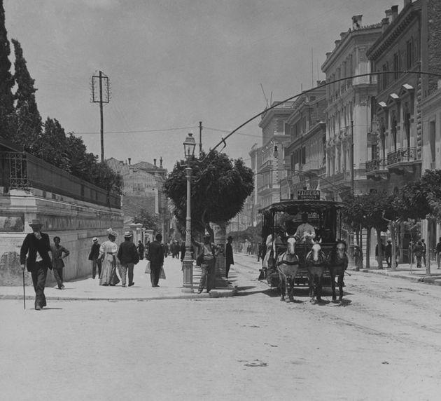 Η οδός Σταδίου στα τέλη του 19ου