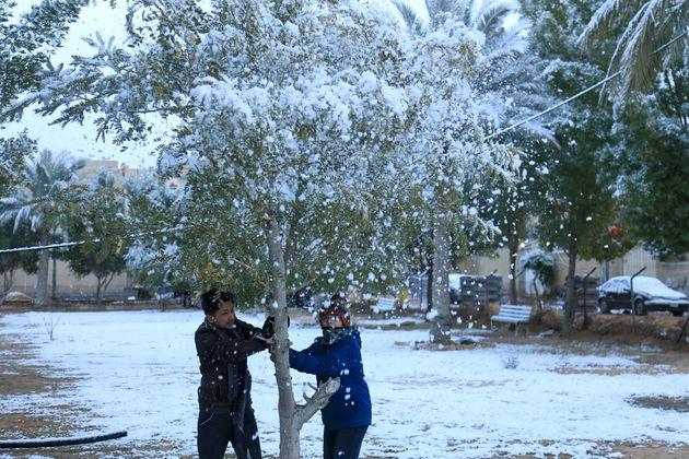 Ιράκ: Χιόνισε στη Βαγδάτη για δεύτερη φορά μέσα σε ένα