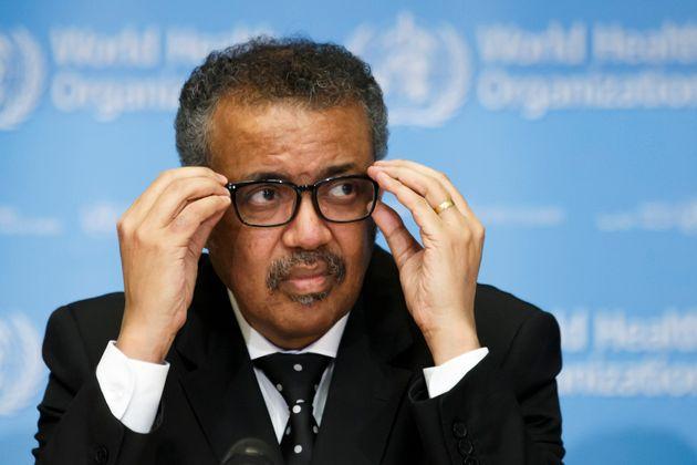 Tedros Adhanom Ghebreyesus, Director General of the World Health Organization (WHO), addresses the media...