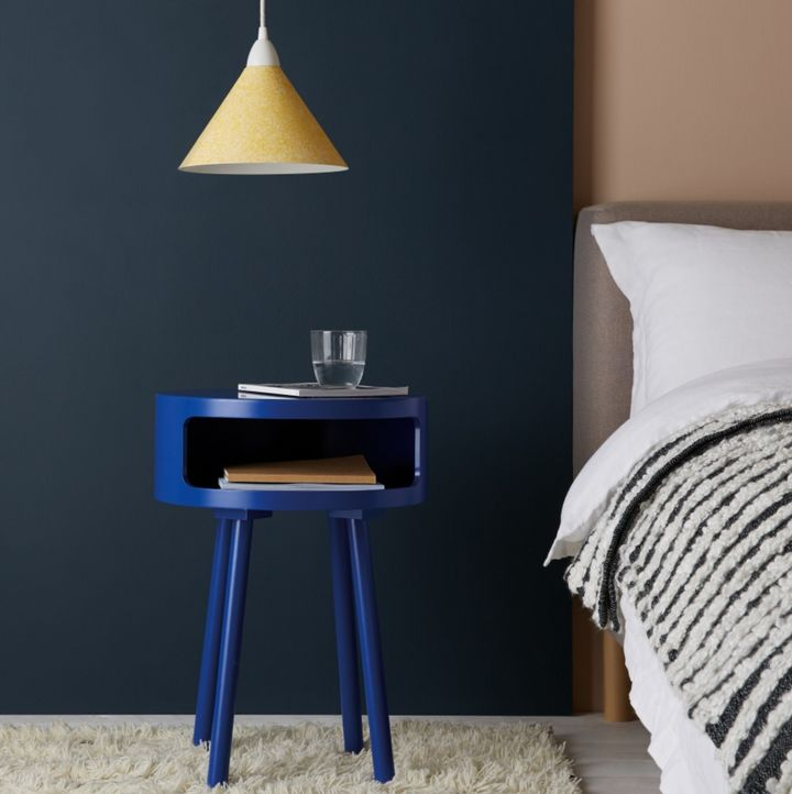 Bumble Cobalt Blue Side Table With Storage Shelf, Habitat
