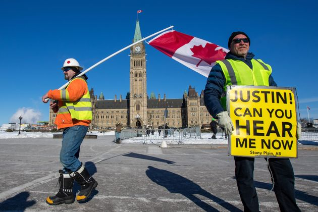 United We Roll protesters in Ottawa, Ont. on Feb. 19,