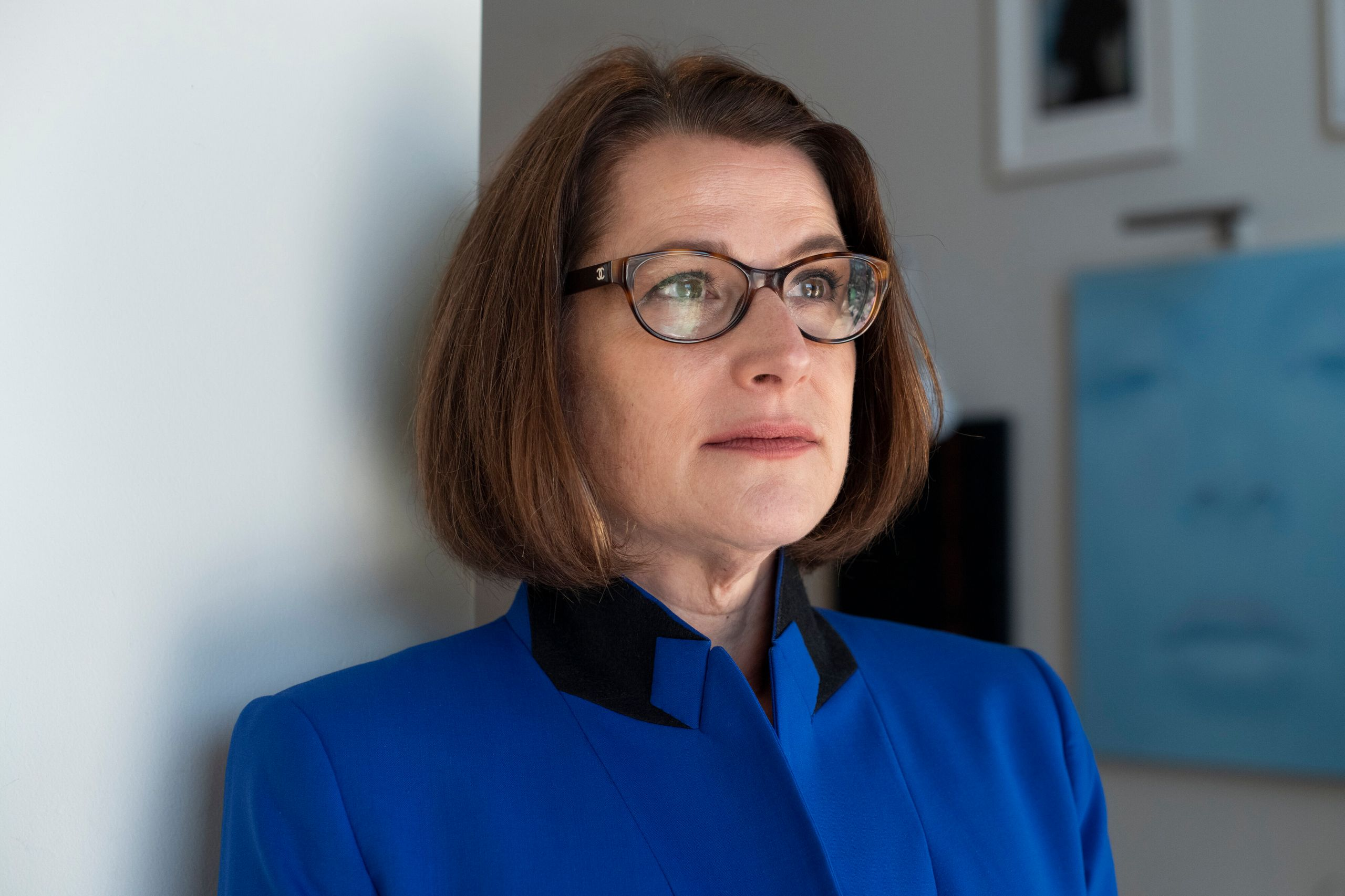 Kate Nicholson, seen at her home in Boulder, Colorado, is a civil rights attorney and pain patient advocate who lived with ch
